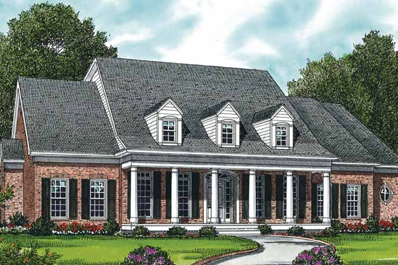 Classical Exterior - Front Elevation Plan #453-335