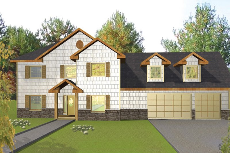 Traditional Exterior - Front Elevation Plan #117-837 - Houseplans.com