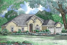 House Design - Ranch Exterior - Front Elevation Plan #17-3031
