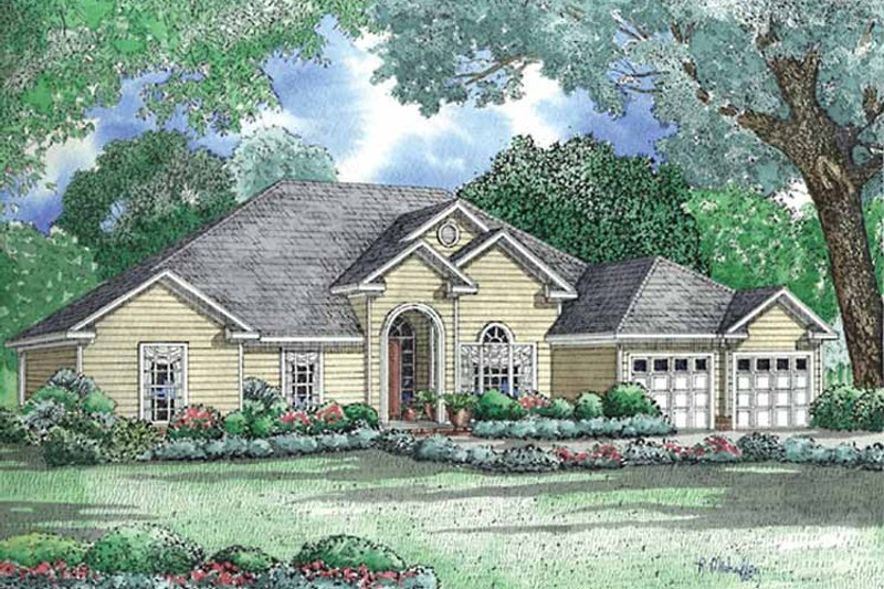 Architectural House Design - Ranch Exterior - Front Elevation Plan #17-3031