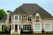 European Style House Plan - 4 Beds 3.5 Baths 3966 Sq/Ft Plan #119-107 Exterior - Front Elevation
