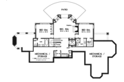 Tudor Style House Plan - 4 Beds 4.5 Baths 3983 Sq/Ft Plan #929-947 Floor Plan - Lower Floor Plan