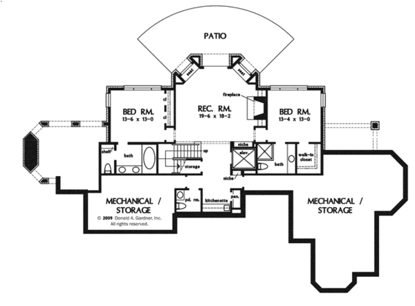 House Design - Tudor Floor Plan - Lower Floor Plan #929-947