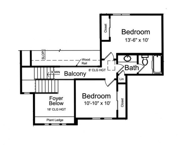 Craftsman Floor Plan - Upper Floor Plan Plan #46-830