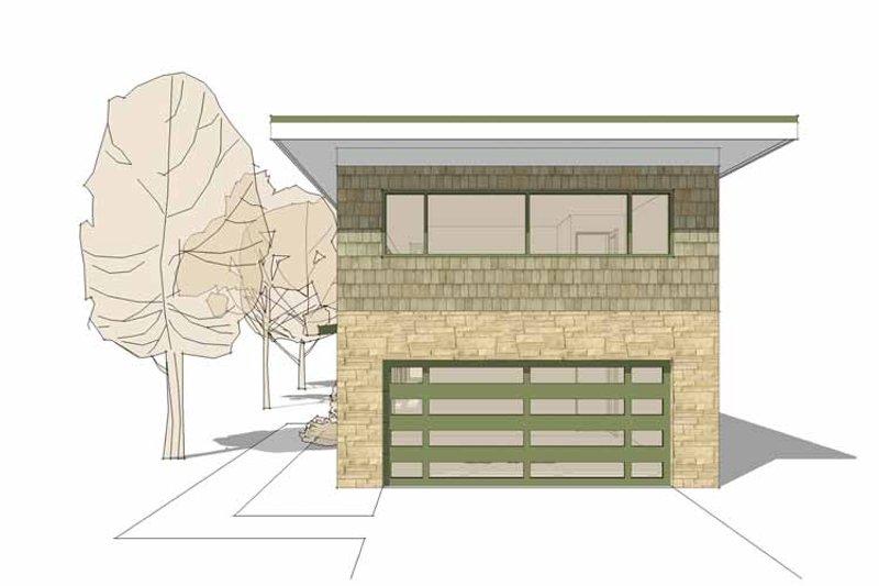 Contemporary Exterior - Front Elevation Plan #64-311 - Houseplans.com
