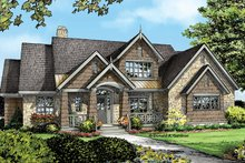 Dream House Plan - European Exterior - Front Elevation Plan #929-954