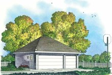 Colonial Exterior - Front Elevation Plan #1016-86