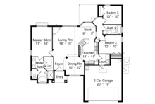 Mediterranean Floor Plan - Main Floor Plan Plan #417-818