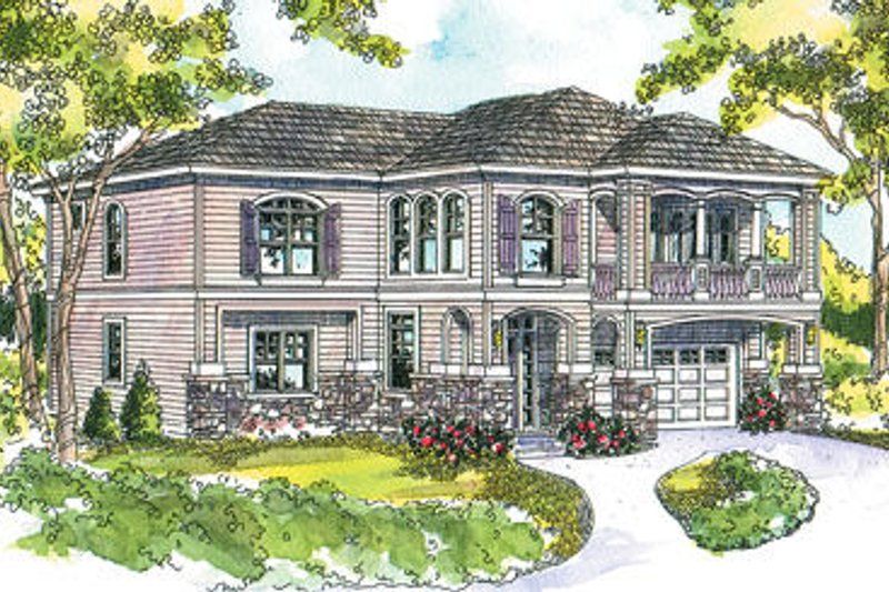 Craftsman Exterior - Front Elevation Plan #124-619