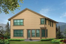 Craftsman Exterior - Rear Elevation Plan #132-242