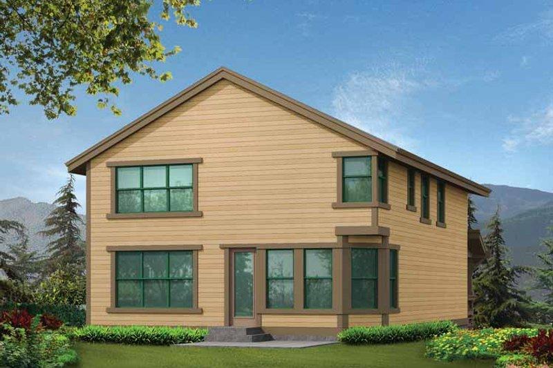 Craftsman Exterior - Rear Elevation Plan #132-242 - Houseplans.com