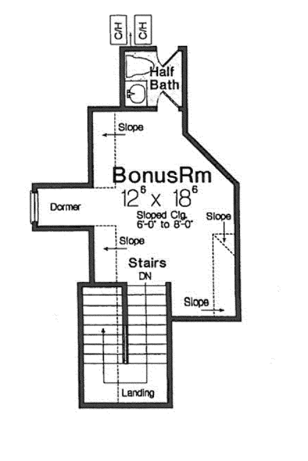 European Floor Plan - Other Floor Plan Plan #310-1265