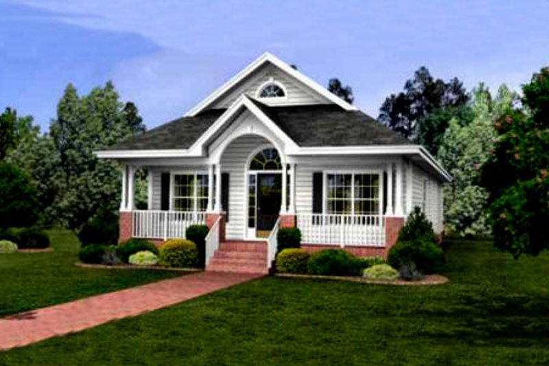 Cottage Exterior - Front Elevation Plan #56-232