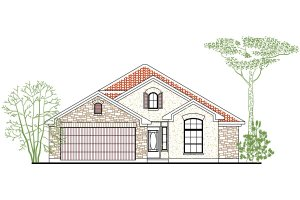 Mediterranean Exterior - Front Elevation Plan #80-133