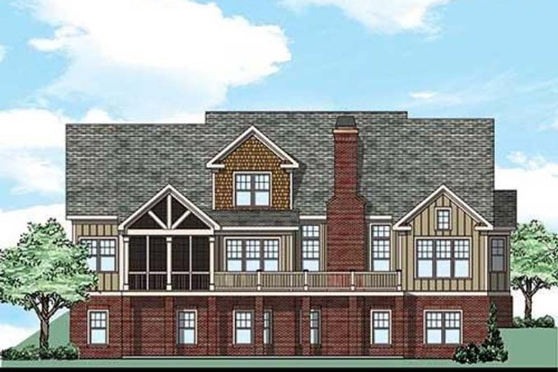 Country Exterior - Rear Elevation Plan #927-434 - Houseplans.com