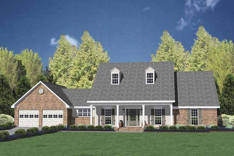 Dream House Plan - Classical Exterior - Front Elevation Plan #36-552