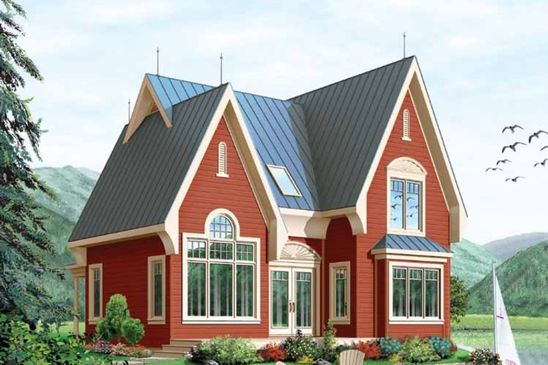 Dream House Plan - European Exterior - Front Elevation Plan #23-2459