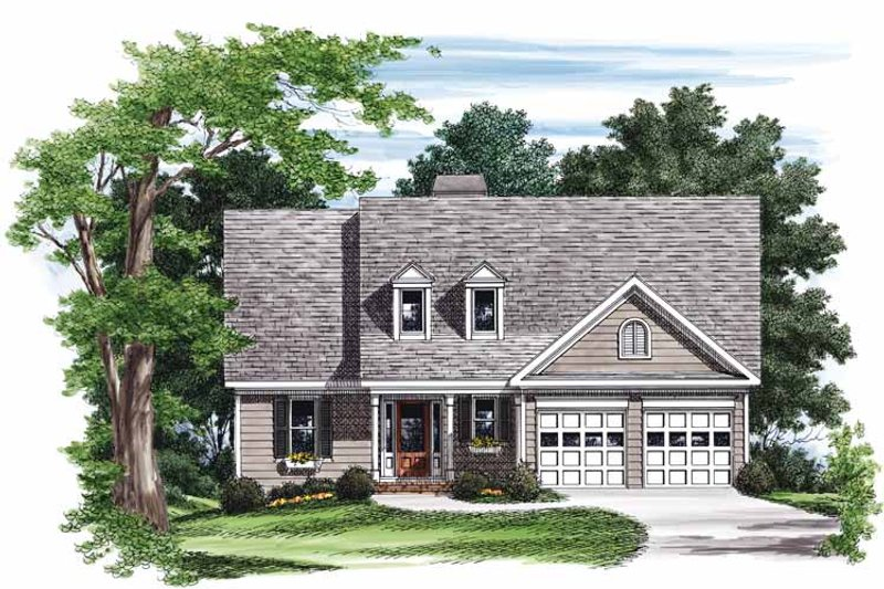 Country Exterior - Front Elevation Plan #927-548