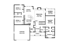 Ranch Floor Plan - Main Floor Plan Plan #1010-103