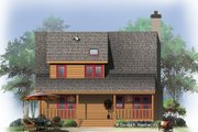 Country Style House Plan - 3 Beds 2 Baths 1338 Sq/Ft Plan #929-112 Exterior - Rear Elevation