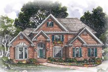 Dream House Plan - Traditional Exterior - Front Elevation Plan #54-242
