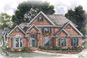 Traditional Exterior - Front Elevation Plan #54-242