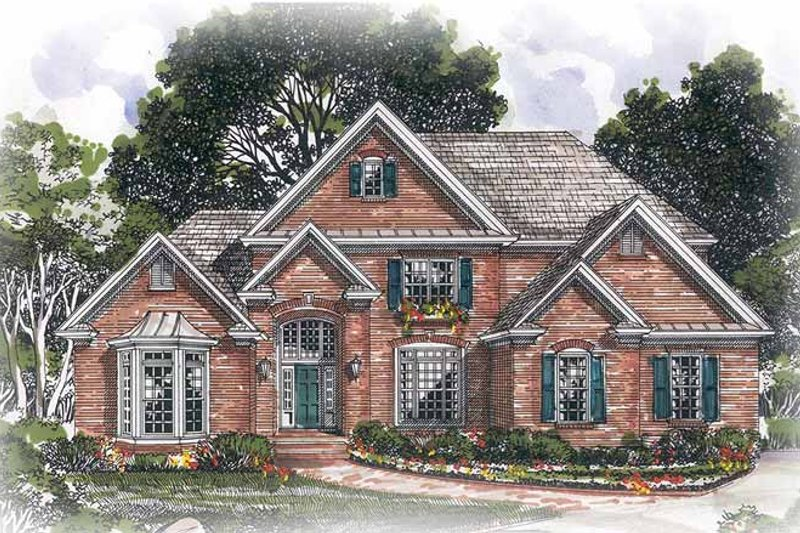 Traditional Exterior - Front Elevation Plan #54-242 - Houseplans.com