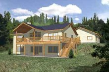 Architectural House Design - Traditional Exterior - Front Elevation Plan #117-302