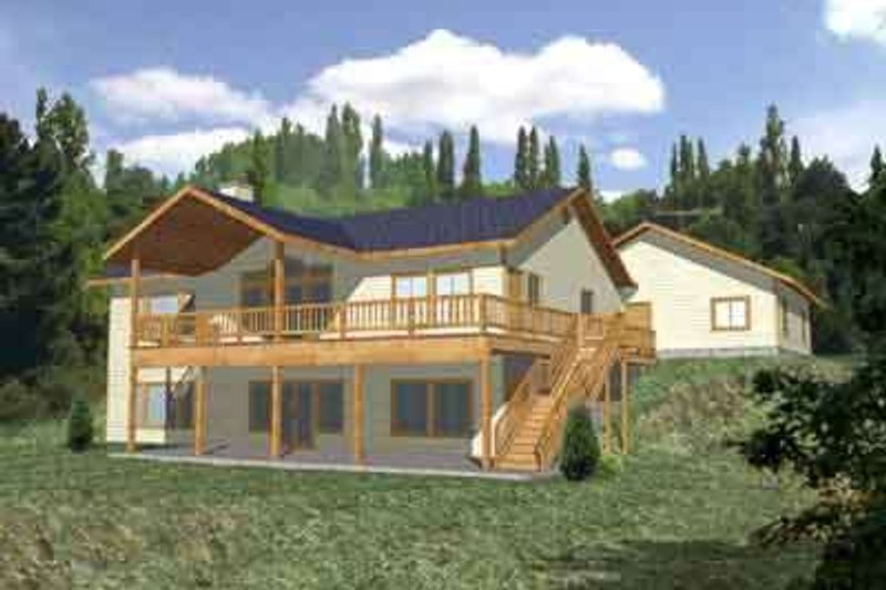 Traditional Exterior - Front Elevation Plan #117-302 - Houseplans.com