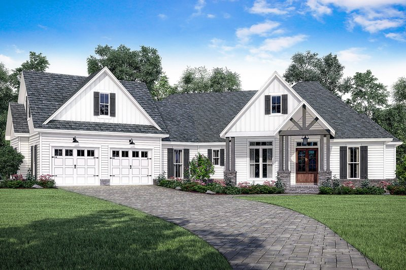 Farmhouse Style House Plan - 3 Beds 2.5 Baths 2534 Sq/Ft Plan #430-166 Exterior - Front Elevation