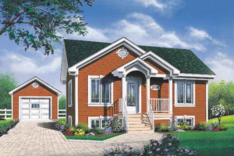 Home Plan - Country Exterior - Front Elevation Plan #23-183