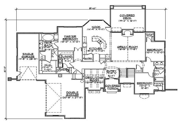 House Plan Design - European Floor Plan - Main Floor Plan #5-276