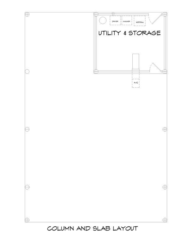 House Plan Design - Beach Floor Plan - Lower Floor Plan #932-274