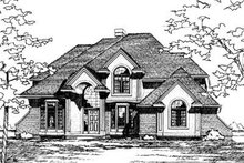 Dream House Plan - Traditional Exterior - Front Elevation Plan #20-995