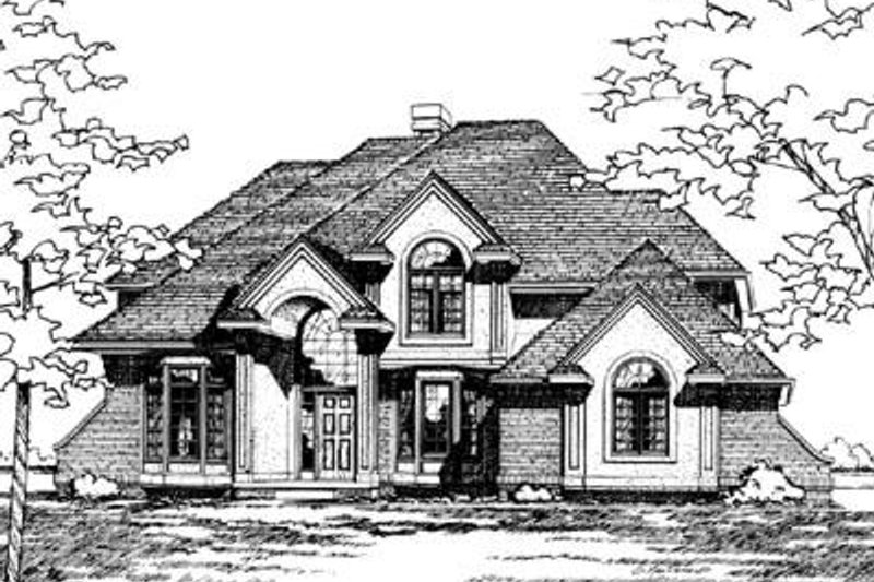 Traditional Exterior - Front Elevation Plan #20-995