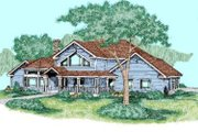 Traditional Style House Plan - 3 Beds 2 Baths 2469 Sq/Ft Plan #60-244 Exterior - Front Elevation