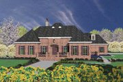 European Style House Plan - 3 Beds 4.5 Baths 3470 Sq/Ft Plan #36-239 Exterior - Front Elevation