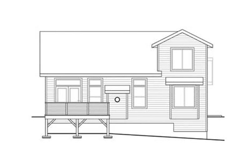 Traditional Exterior - Rear Elevation Plan #124-860 - Houseplans.com