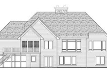 Craftsman Exterior - Rear Elevation Plan #51-353