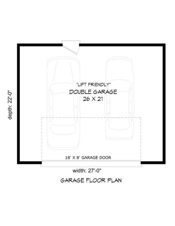 Contemporary Floor Plan - Main Floor Plan Plan #932-52