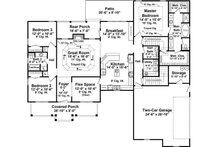 Country Floor Plan - Main Floor Plan Plan #21-384