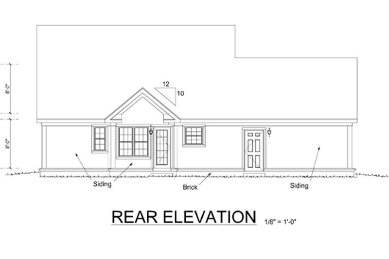 Country Exterior - Rear Elevation Plan #513-2056 - Houseplans.com