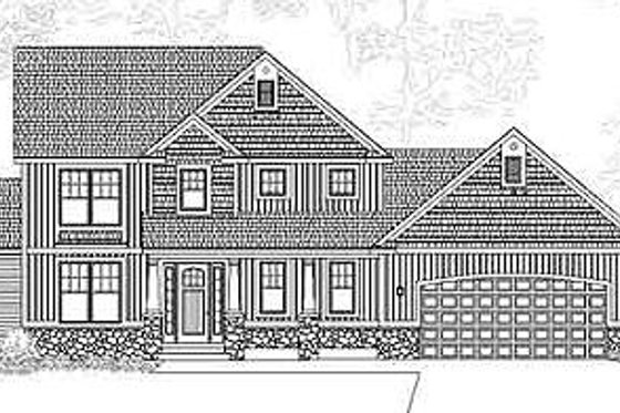 Traditional Exterior - Front Elevation Plan #49-217
