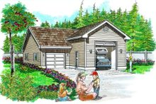 Traditional Exterior - Front Elevation Plan #47-504