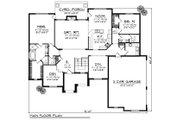 European Style House Plan - 2 Beds 2.5 Baths 2434 Sq/Ft Plan #70-875 Floor Plan - Main Floor Plan