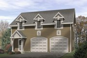 Colonial Style House Plan - 1 Beds 1 Baths 1240 Sq/Ft Plan #22-432 Exterior - Front Elevation