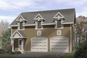 Colonial Exterior - Front Elevation Plan #22-432