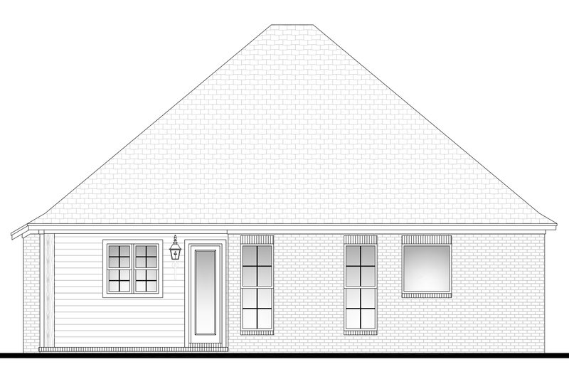 Country Exterior - Rear Elevation Plan #430-97 - Houseplans.com