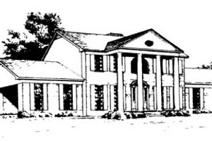 Classical Exterior - Front Elevation Plan #10-263