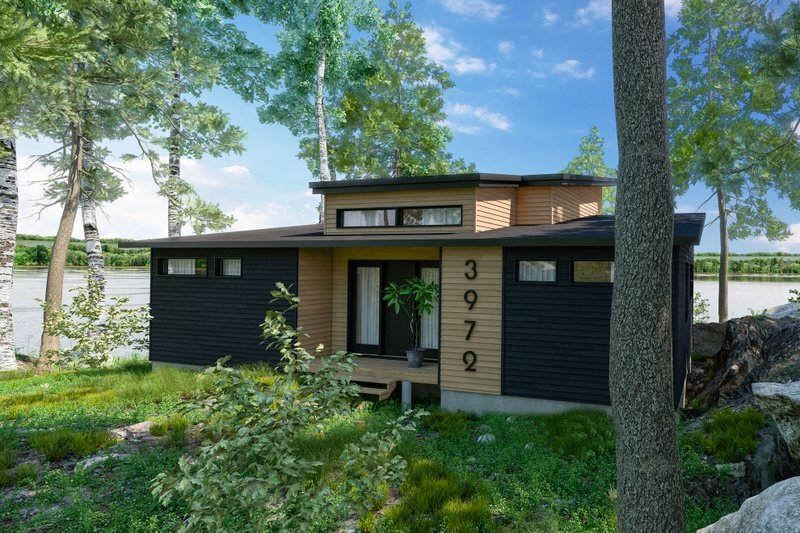 House Blueprint - Modern Exterior - Front Elevation Plan #23-2747